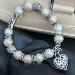 South Sea Pearl Bracelet Champagne Color